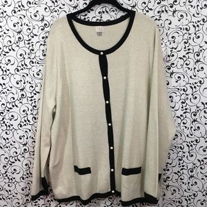 A New Day Gold Metallic Button Down Cardigan